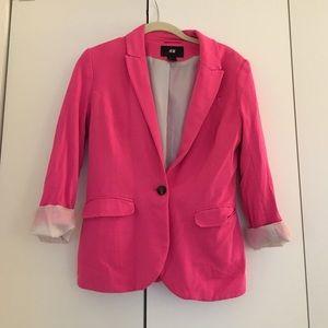 H&M Hot Pink Blazer size 6